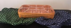 Large 1997 Longaberger Veggie Basket w/ Covers