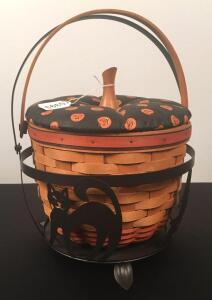 1995 Longaberger Halloween Basket w/ Metal Base