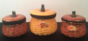 Lot of 3 Fall Longaberger Baskets