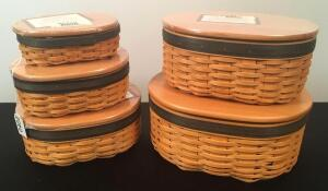 Lot of 5 2007 Longaberger Harmony Baskets