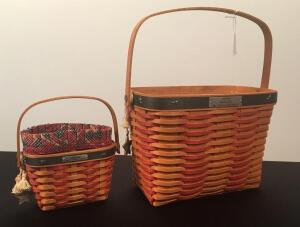 Lot of 2 Longaberger Baskets
