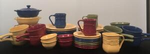 Large Set of Longaberger Pottery Dishes
