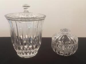 Crystal Cookie Jar and Candy Dish