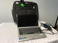 Sony VAIO Laptop and bag