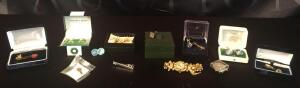 Lot of Assorted Tie Tacks and Cuff Links