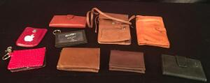 Lot of Genuine Leather ID Holders and Wallets