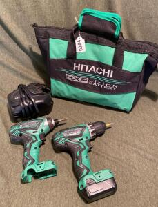 Hitachi 12V Lithium Ion Drill/Impact Combo