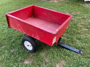 Red Utility Dump Wagon