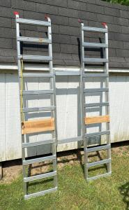 Pair of Folding Aluminum Ramps