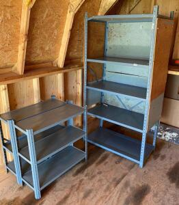 Lot of 3 Metal Shelving Units