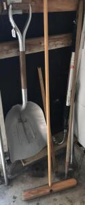Scoop Shovel, Push Broom, Gutter Blaster, Garden Hoe
