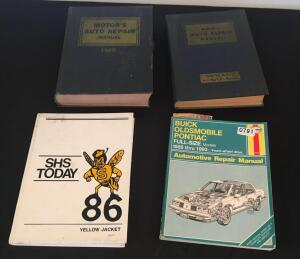 1986 SHS Yearbook and Auto Repair Manuals