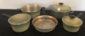 Lot of 5 Magna Brite Cookware Pieces