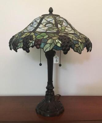 Colored Glass Metal Base Lamp
