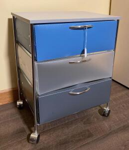 Rolling Cart with Plastic Drawers