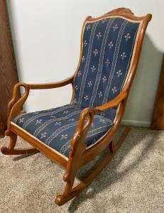 Rocking Chair with Swan Head Arms