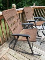 Folding Patio Rockers and Table - 2