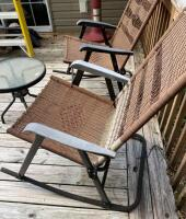 Folding Patio Rockers and Table - 3
