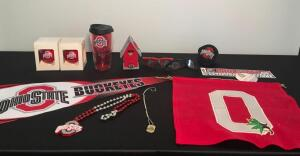 Lot of Assorted OSU Pieces and Reds Glasses