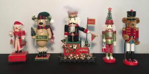 Lot of 5 Assorted Nutcrackers
