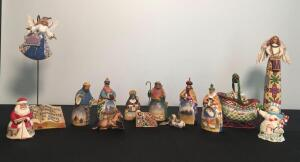 Lot of Holiday Jim Shore Figurines w/ Nativity Set