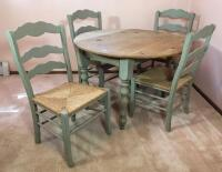 Country Style Drop Leaf Table & Chairs