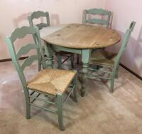 Country Style Drop Leaf Table & Chairs - 2
