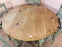 Country Style Drop Leaf Table & Chairs - 4