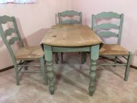 Country Style Drop Leaf Table & Chairs - 5