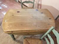 Country Style Drop Leaf Table & Chairs - 6