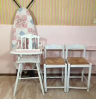 High Chair, Stools, & Ironing Board