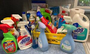 Large Lot of Household Cleaners & Misc.