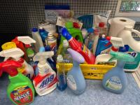 Large Lot of Household Cleaners & Misc. - 2