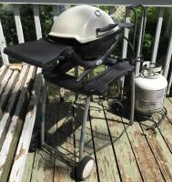 Weber Mini Grill w/ Stand and Full Propane Tank - 2
