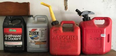 Gas Cans, Antifreeze
