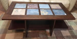Coffee Table With Slate Tile Inserts