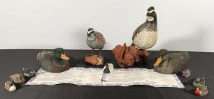 Flat of Duck and Other Fowl Figurines