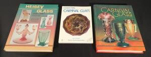 2 Carnival Glass Books & One Heisey Glass Book