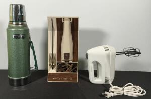 Electric Knife, Vintage Aladdin Thermos, Mixer