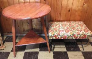 Round Table & Footstool