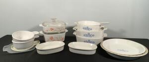 Large Lot of Corning Ware Dishes