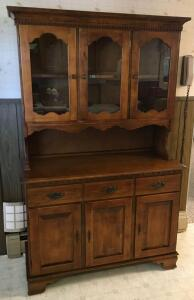 St. Johns Furniture Co. Maple China Cupboard