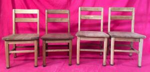 Lot of 4 Children's Chairs