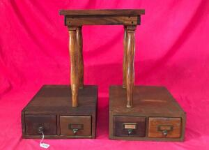 Vintage Library Card Catalog w/ Table