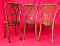 Lot of 3 Wooden Chairs - 4