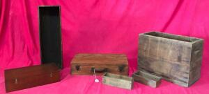 Lot of Wooden Boxes & Crates