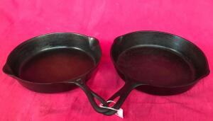 "Pair of Unmarked 10"" Skillets"
