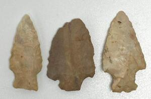 Lot of 3 Arrowheads