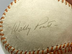 Wally Post Signed Baseball