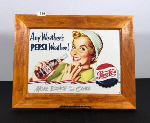 Pepsi Reproduction Metal Sign